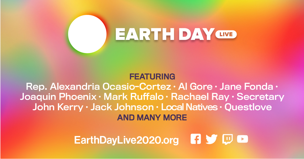 Earth Day 2020 banner