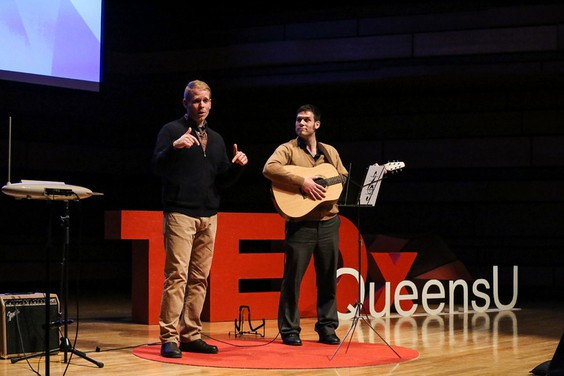 Chris Trimmer and Richard Tyo at the TEDxQueensU Conference 2015